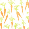 Carrots - Cream/Orange/Gold & Green Metallic