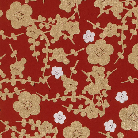 Gift Wrap - Cherry Blossom - Red