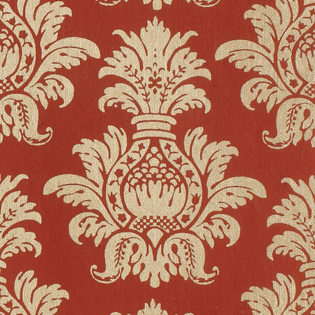 Gift Wrap - Pineapple - Gold on Red