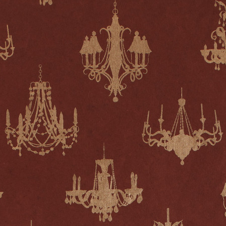 Gift Wrap - Chandelier - Gold on Brown