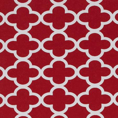Gift Wrap - Cloverleaf - Red
