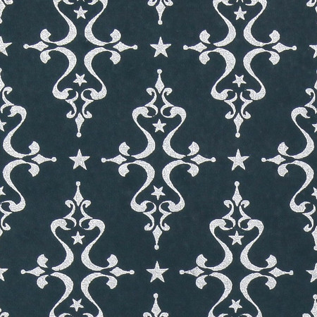 Gift Wrap - Etoile - Silver on Midnight Blue