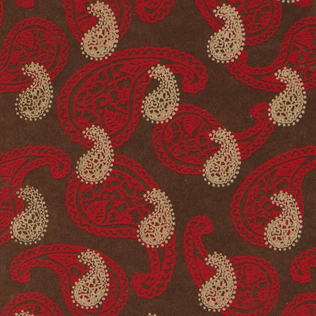 Gift Wrap - Paisley - Brown