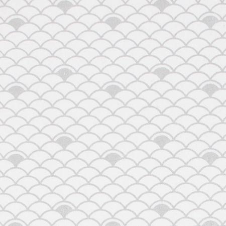 Gift Wrap - Nami - Silver on White