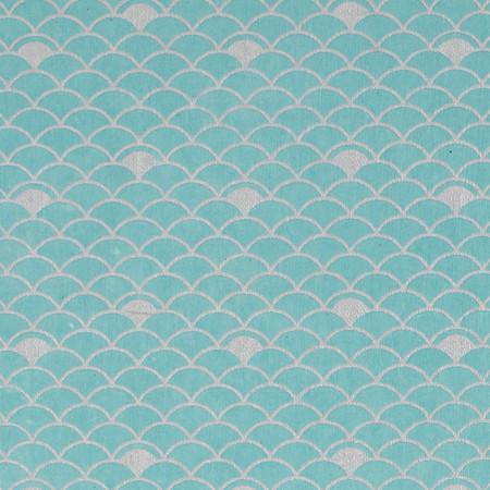 Gift Wrap - Nami - Silver on Blue