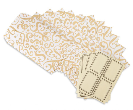 Note Envelopes - Flourish - Gold