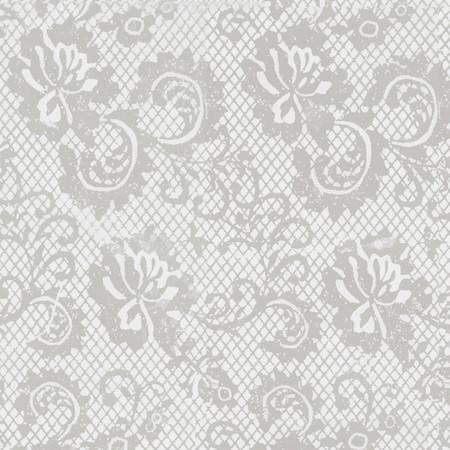 Gift Wrap - Lace - White/Metallic White
