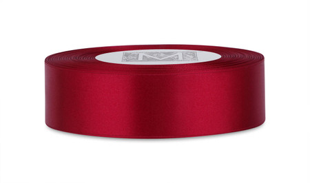 Custom Printing on Double Faced Satin Ribbon - Garnet