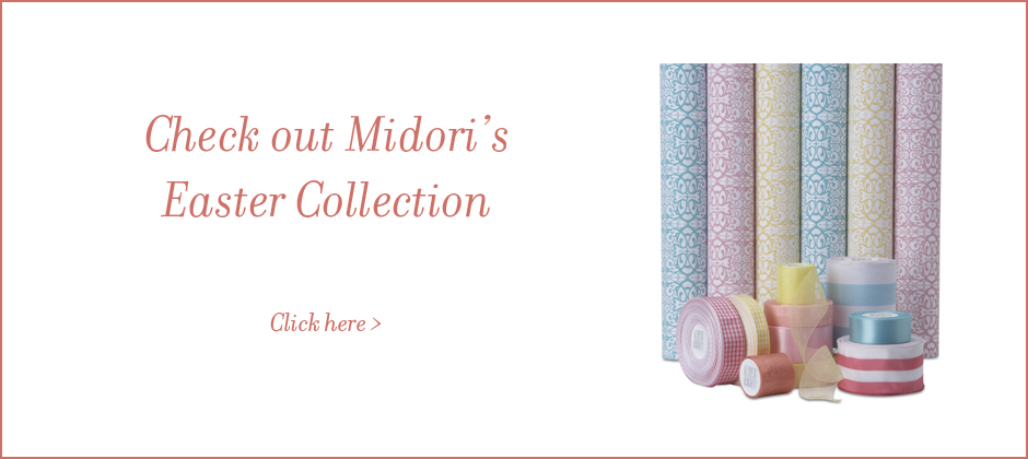 Midori's Easter collection of Gift Wrap and Ribbon