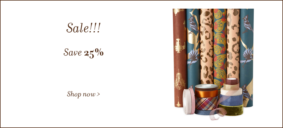 Ribbon and Gift Wrap on sale