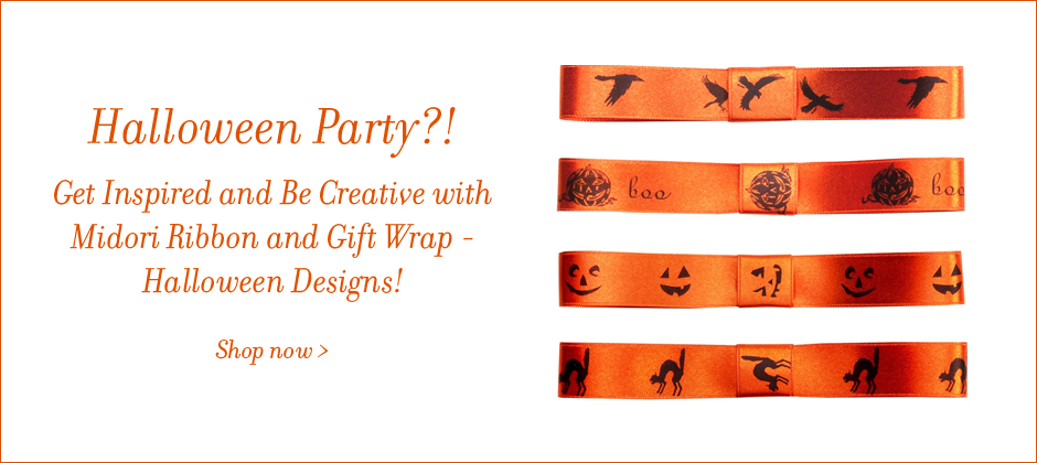 Halloween symbols on ribbon