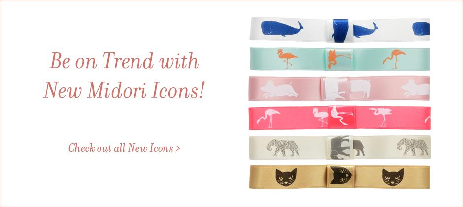 New Icons on Satin Ribbon