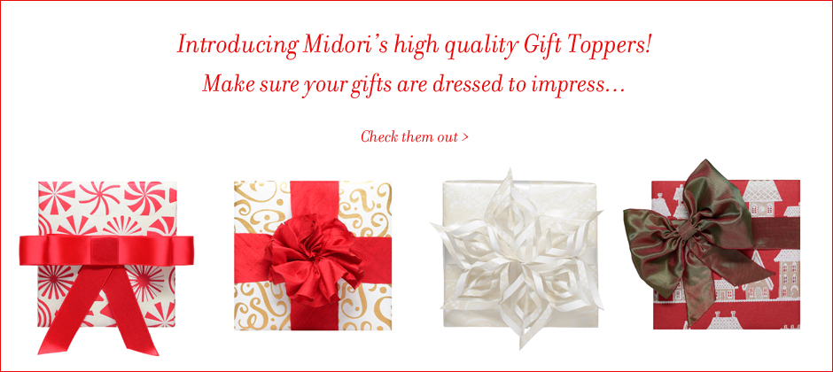 Midori's Gift Toppers and Bows
