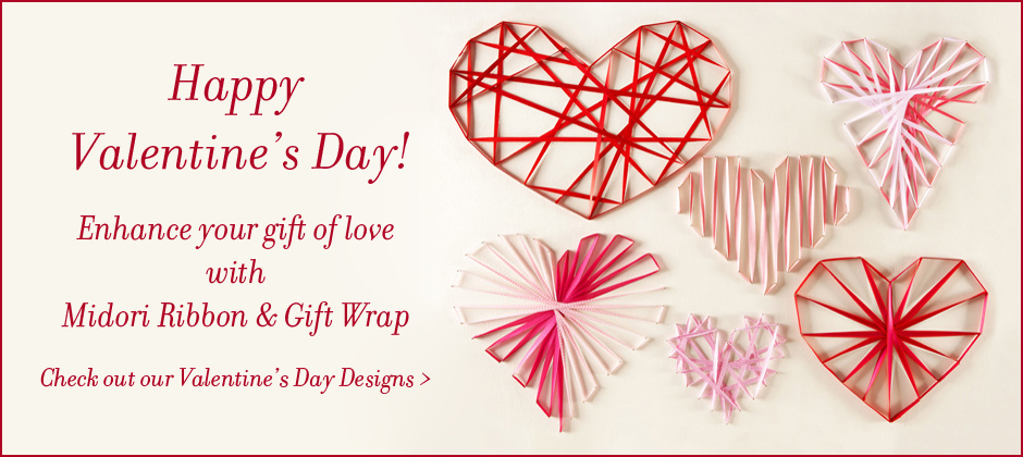 Valentine's designs of Ribbon and Gift Wrap