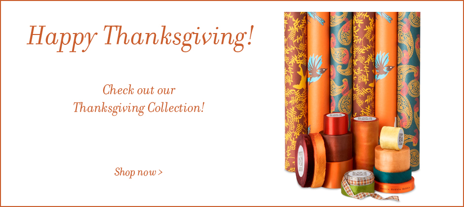Thanksgiving Ribbon and Gift Wrap collection