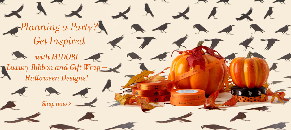 Halloween ribbon and gift wrap