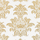 Gift Wrap - Pineapple - Gold on White