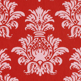 Gift Wrap - Pineapple - Pink on Red