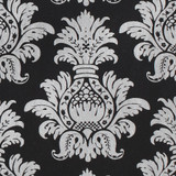 Gift Wrap - Pineapple - Silver on Black