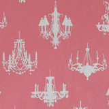 Gift Wrap - Chandelier - Silver on Pink