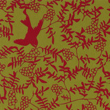 Gift Wrap - Swallow - Red on Bamboo
