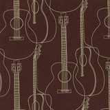 Gift Wrap - Guitars - Brown