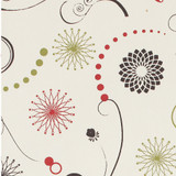 Gift Wrap - Atomic Flowers - Cream