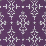 Gift Wrap - Etoile - Silver on Purple