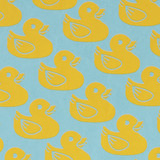 Gift Wrap - Ducklings - Blue