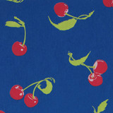 Gift Wrap - Cherries - Pink on Blue