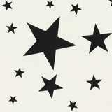 Gift Wrap - Stars - Black on Cream