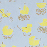 Gift Wrap - Buggy - Yellow on Blue