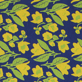 Gift Wrap - Bellflowers - Navy