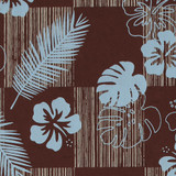 Gift Wrap - Tropics - Brown