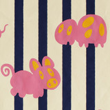 Gift Wrap - Petz - Cream/Navy/Pink