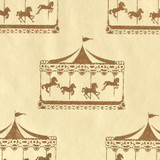 Gift Wrap - Carousel - Cream