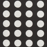 Gift Wrap - Dots - Silver on Black