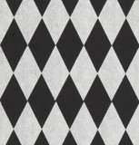 Gift Wrap - Harlequin - Silver on Black