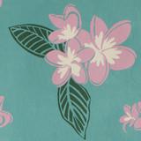 Gift Wrap - Plumeria - Turquoise