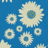 Gift Wrap - Daisies - Blue