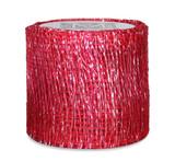 Sinamay Ribbon - Raspberry/Silver