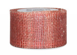 Sinamay Ribbon - Light Coral/Silver
