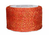 Sinamay Ribbon - Poppy/Gold