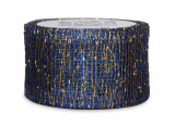 Sinamay Ribbon - Navy/Gold
