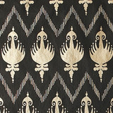 New! Gift Wrap - Ikat- Black/Metallic Gold