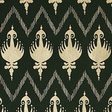 New! Gift Wrap - Ikat - Hunter Green/Metallic Gold