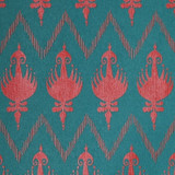 New! Gift Wrap - Ikat - Viridian/Red