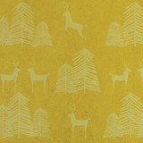 Gift Wrap - Reindeer & Tree - Gold and Light Silver Metallic