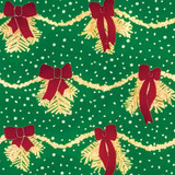New! Gift Wrap - Garland - Green/Gold/Red
