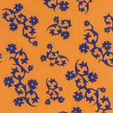 New! Gift Wrap - Scandinavian Holiday - Orange/Blue